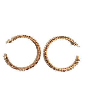 NWOT - Rose Gold Stud Hoop Earrings
